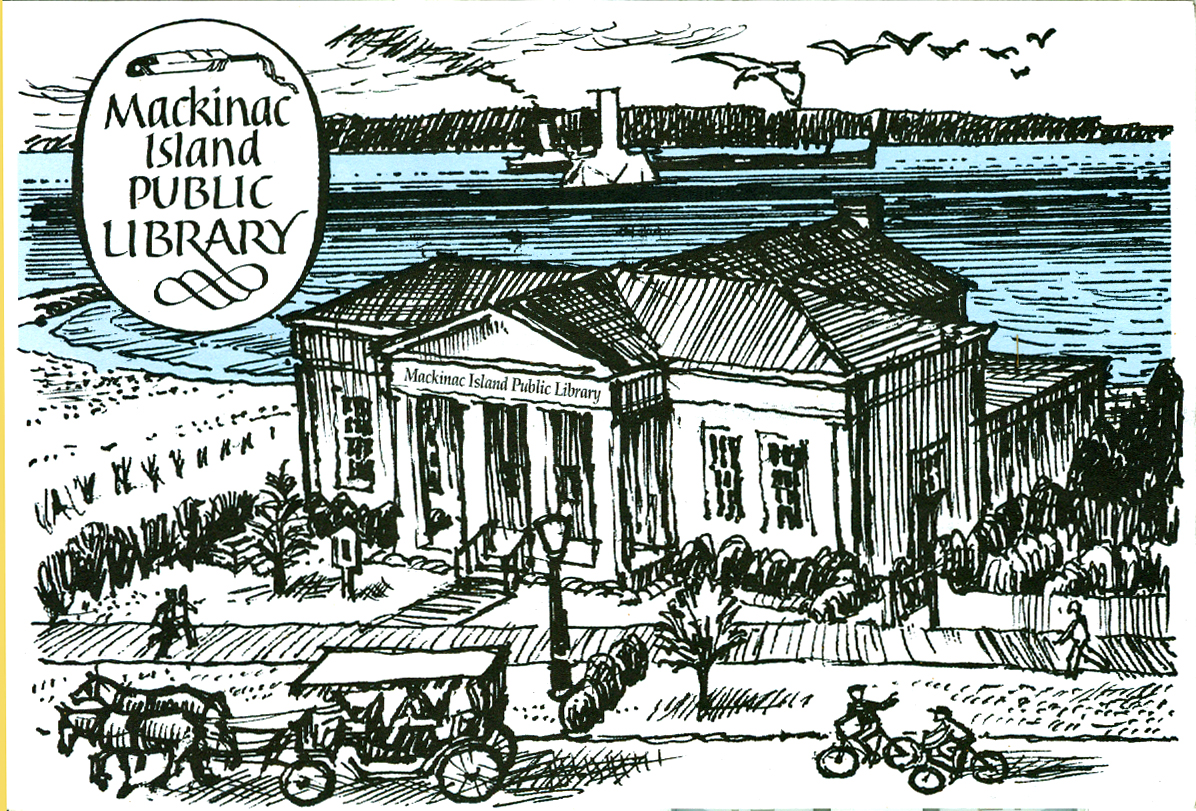 Image of the Mackinac library.